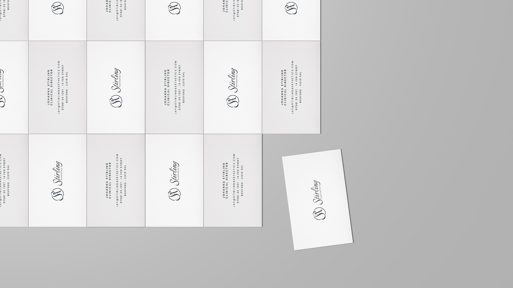 Stirling Aesthetics Business Cards